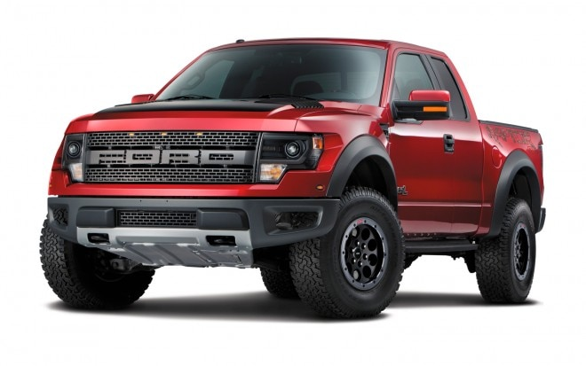 2014 Ford F150 SVT Raptor Special Edition Front Three Quarters View1 660x413