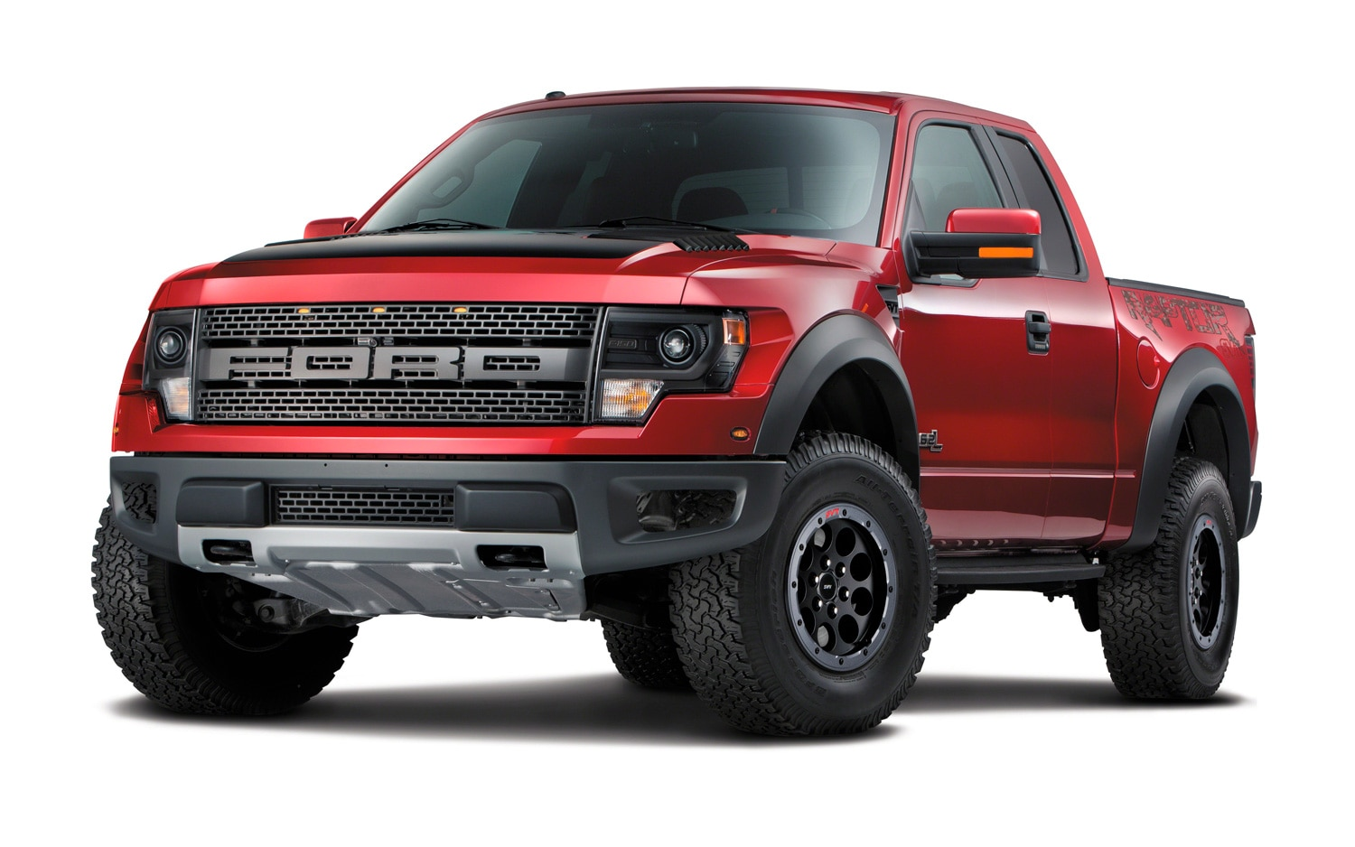 2014 Ford F150 SVT Raptor Special Edition Front Three Quarters View1