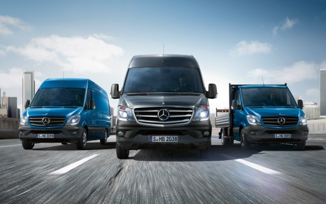 2014 Mercedes Benz Sprinter Lineup Front View1 660x413