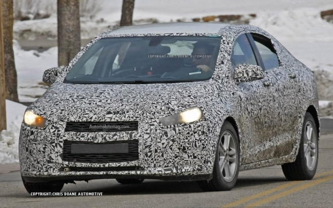 2015 Chevrolet Cruze Spied Front Three Quarter 11 660x413