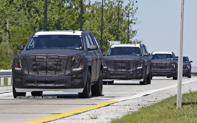 2015 GM Large SUVs Spied Convoy1 660x413