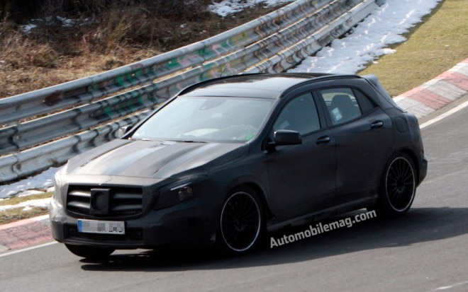 2015 Mercedes Benz GLA45 AMG Spied Front Three Quarter 3 Amag1 660x413