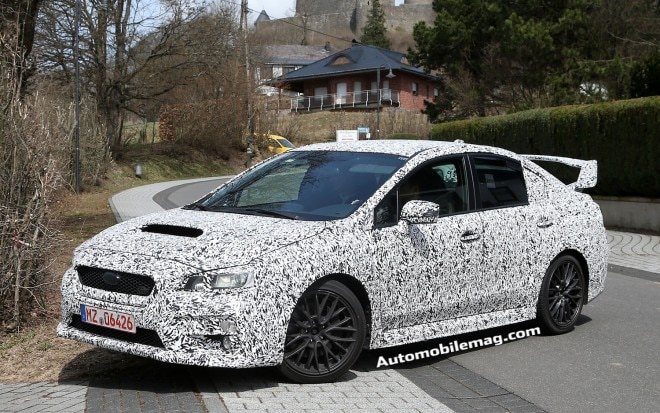 2015 Subaru WRX STI Front Three Quarter Spied 21 660x413