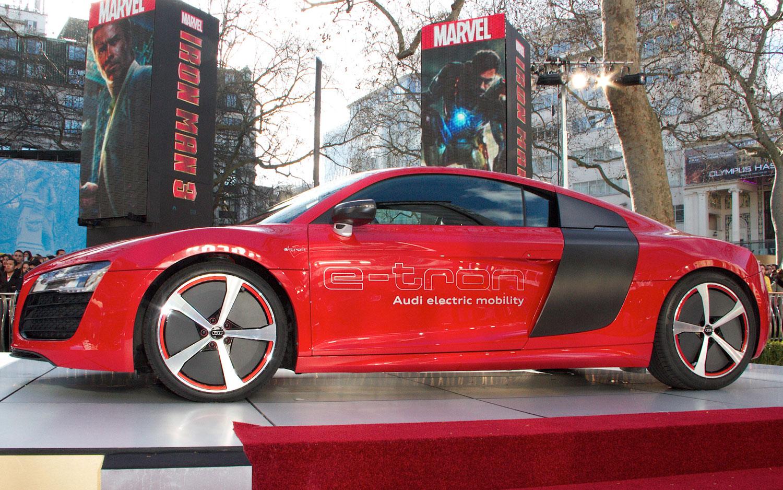 Audi R8 ETron Left Side Profile Iron Man 31