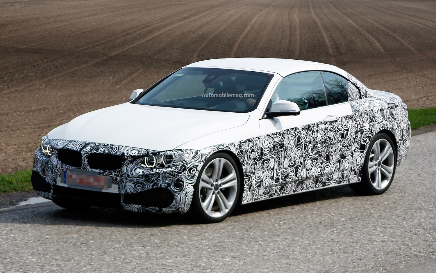 BMW 4 Series Convertible Spied Front Three Quarter 21