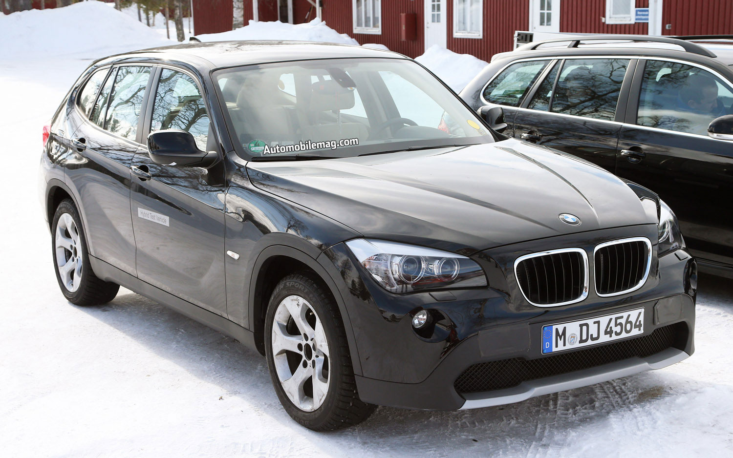caught bmw x1 hybrid or ev conducts winter tests. Black Bedroom Furniture Sets. Home Design Ideas