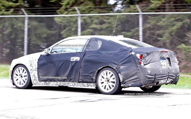 Cadillac ATS Coupe Spy Shot Left Rear 21 660x413
