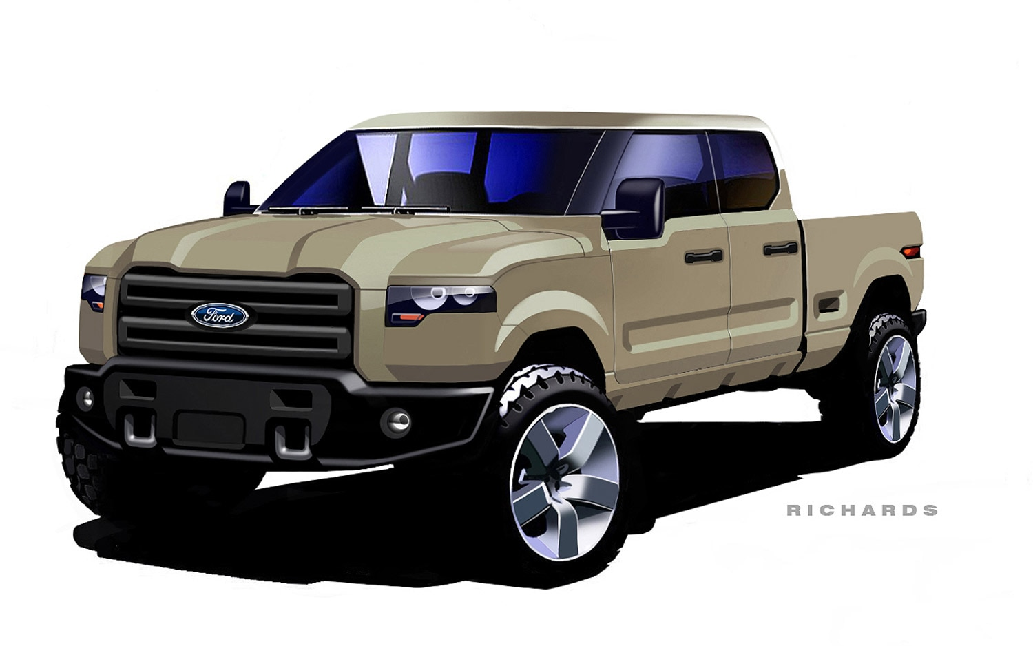 Ford Reveals Early Design Sketches For Atlas Concept