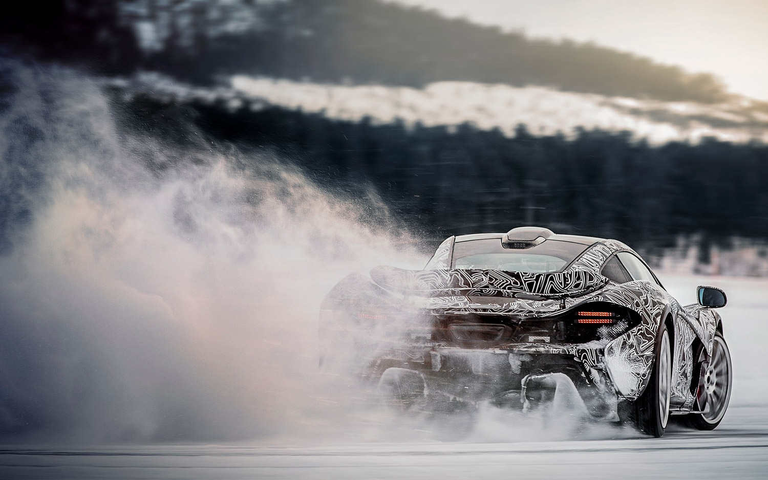 McLaren P1 Winter Testing Motion 21
