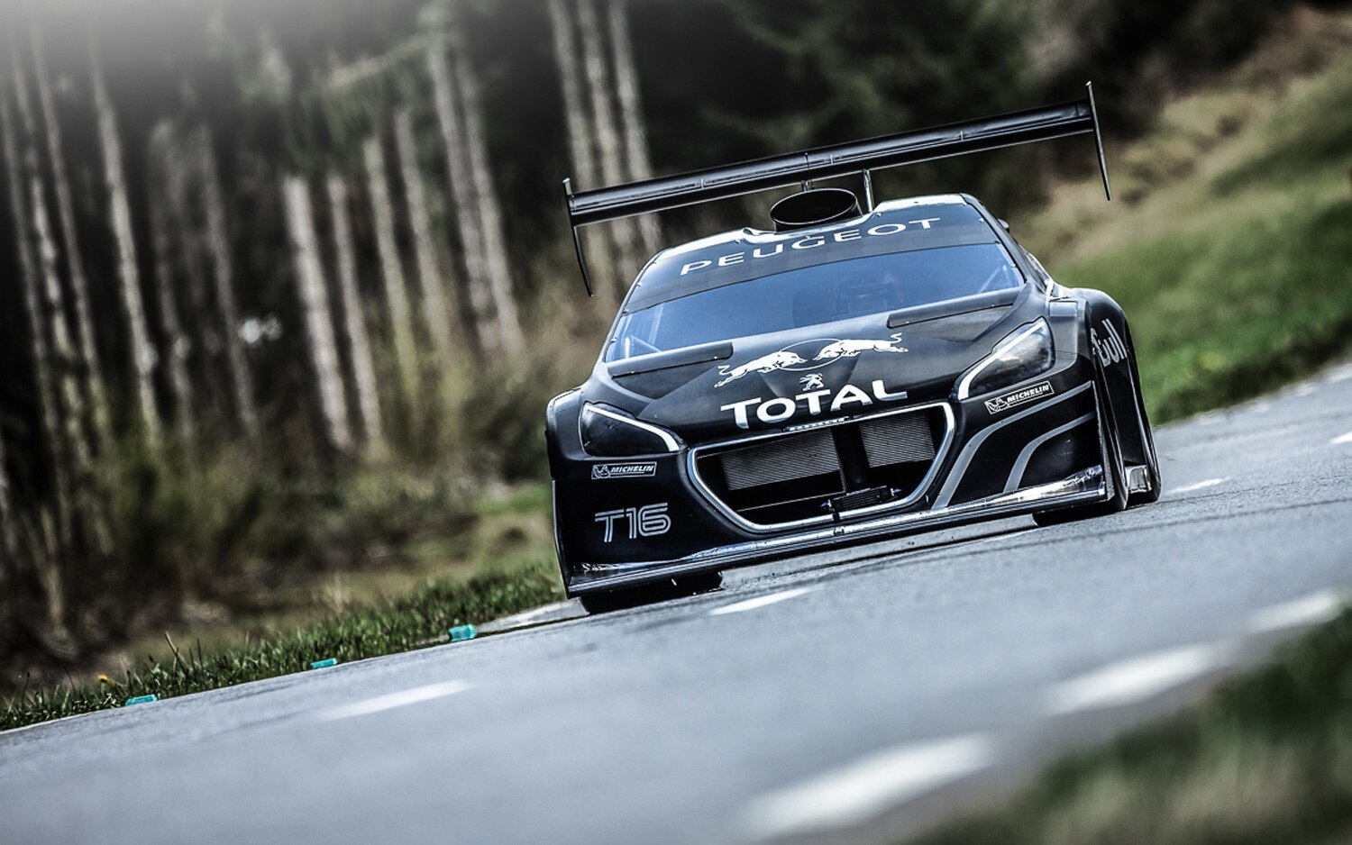 Peugeot 208 Pikes Peak Front View On Track 211