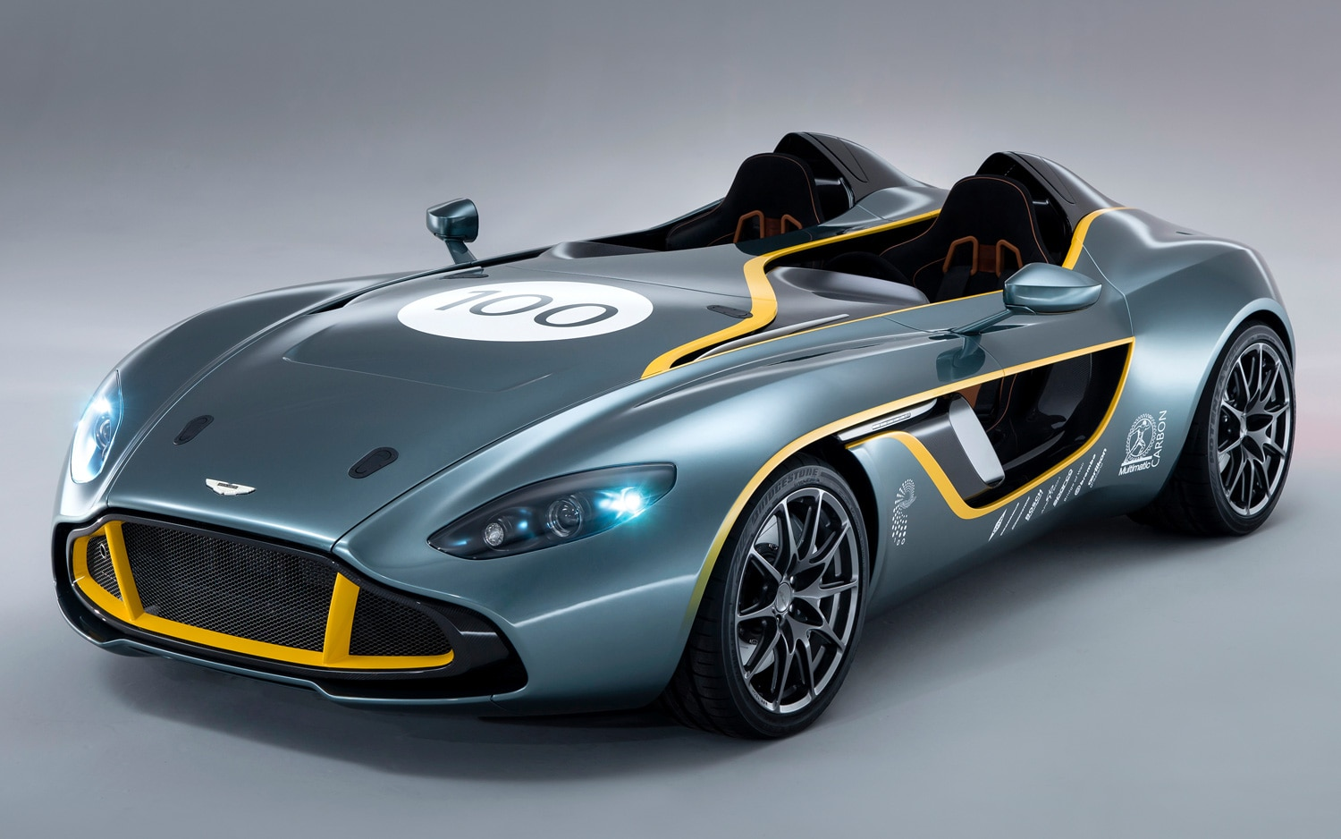 2013 Aston Martin CC100 Speedster Concept Front Three Quarters View1