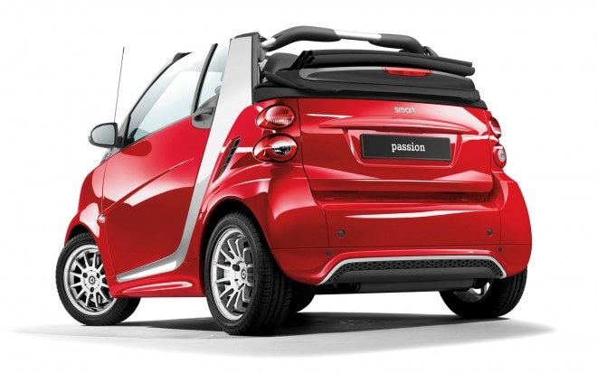 2013 Smart Fortwo Passion Convertible Rear Three Quarter1 660x413