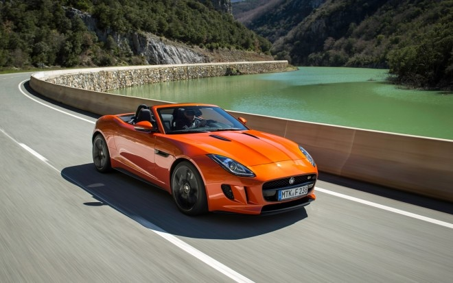 2014 Jaguar F Type S V 8 Front Three Quarter In Motion1 660x413