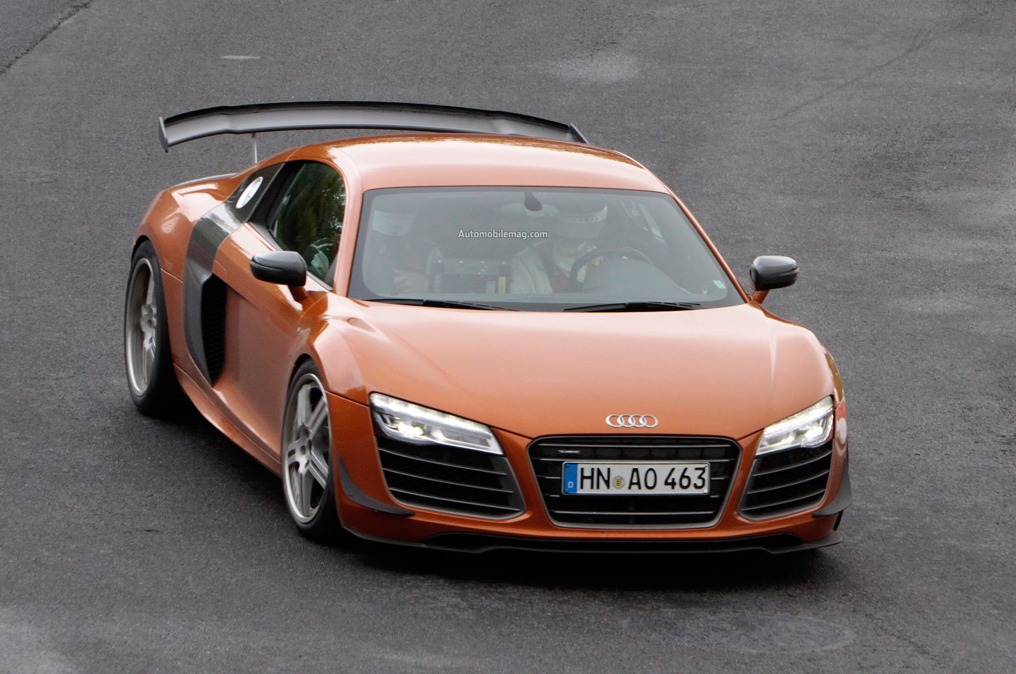 Audi R8 GT Spied Front Three Quarter 21