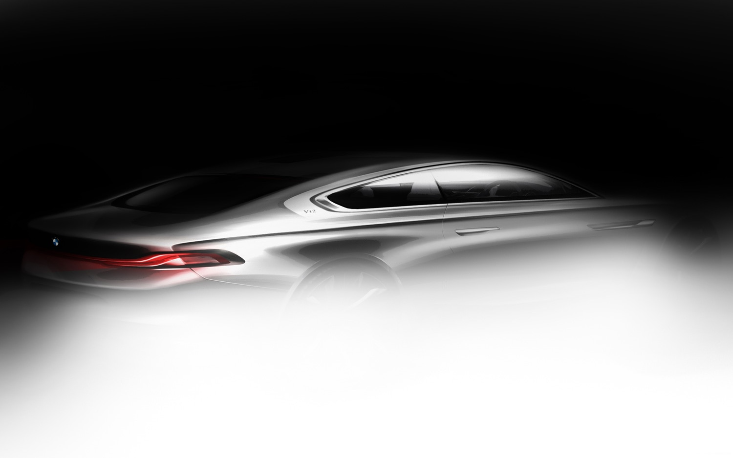 BMW Gran Lusso Coupe Teaser Image Rear Three Quarters View1