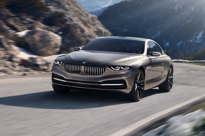 BMW Pininfarina Gran Lusso Coupe Concept Front Three Quarters View In Corner1 660x438