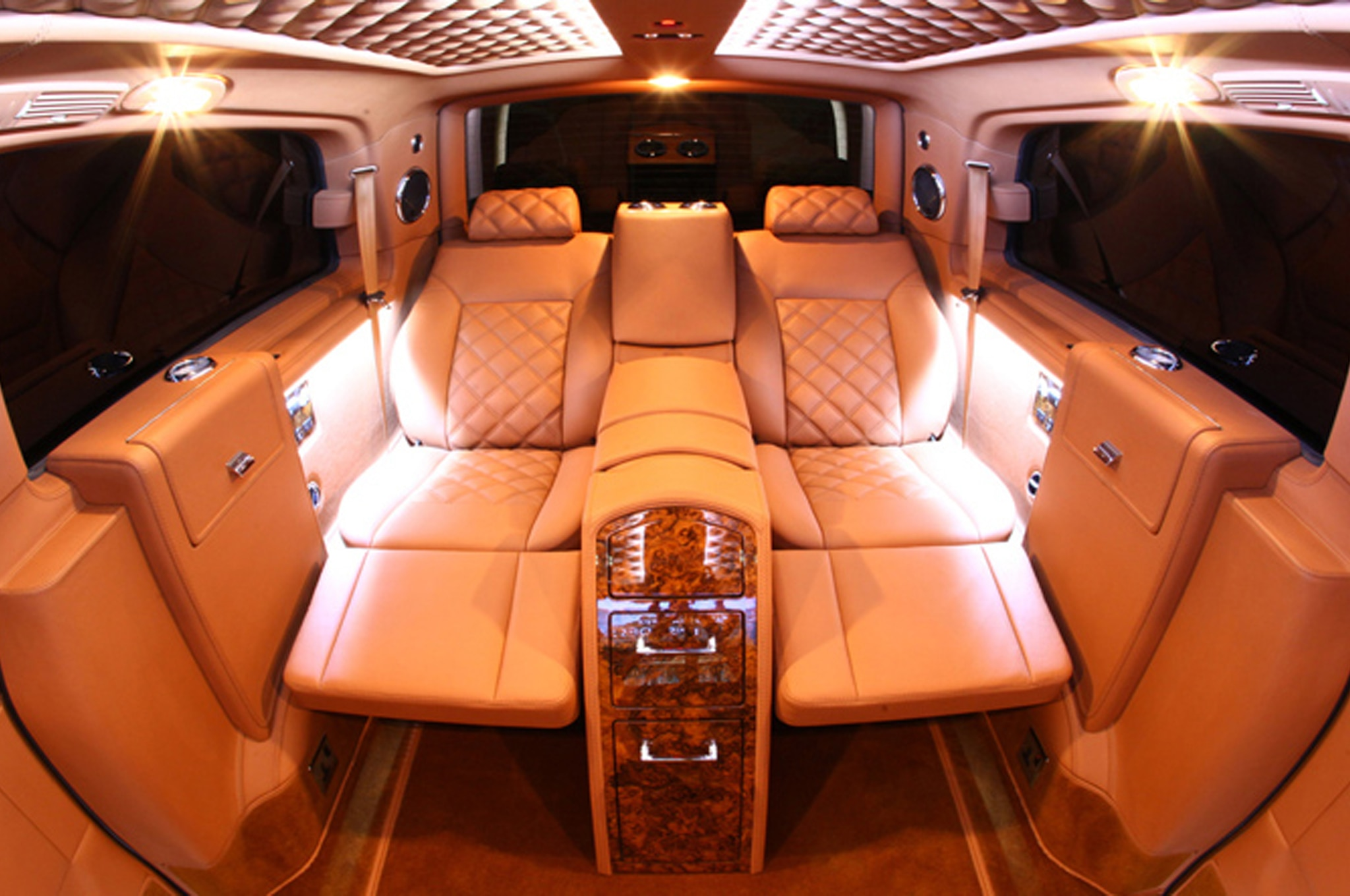 custom mercedes benz vans are the maybachs of minivans. Black Bedroom Furniture Sets. Home Design Ideas