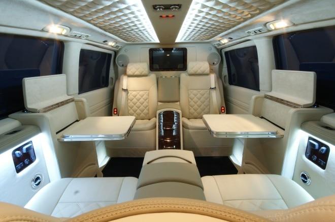 Carisma Mercedes Benz Viano Interior White1 660x438