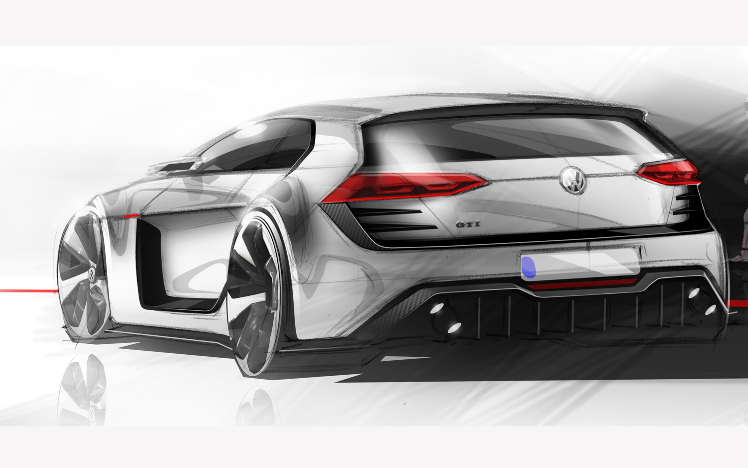 Design Vision Volkswagen GTI Rear Three Quarter1