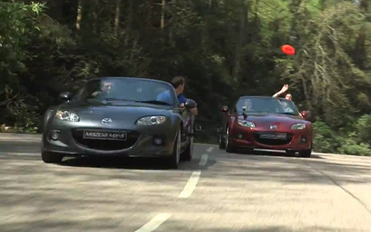 Mazda MX 5 Miata Frisbee Video