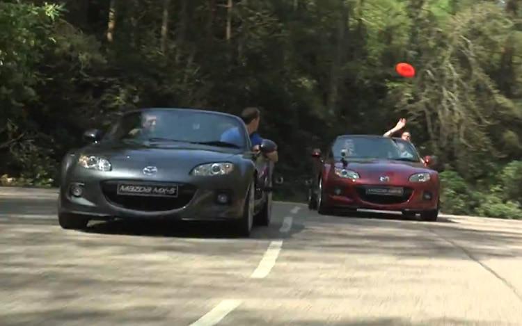Mazda MX 5 Miata Frisbee Video