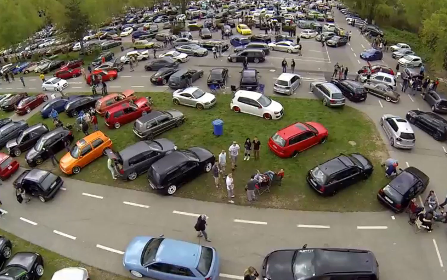Volkswagens All Parked At Worthersee1