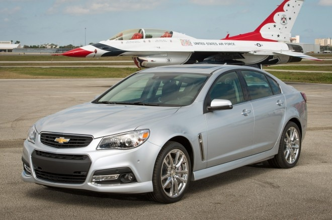 2014 Chevrolet SS Front Three Quarter With Plane1 660x438