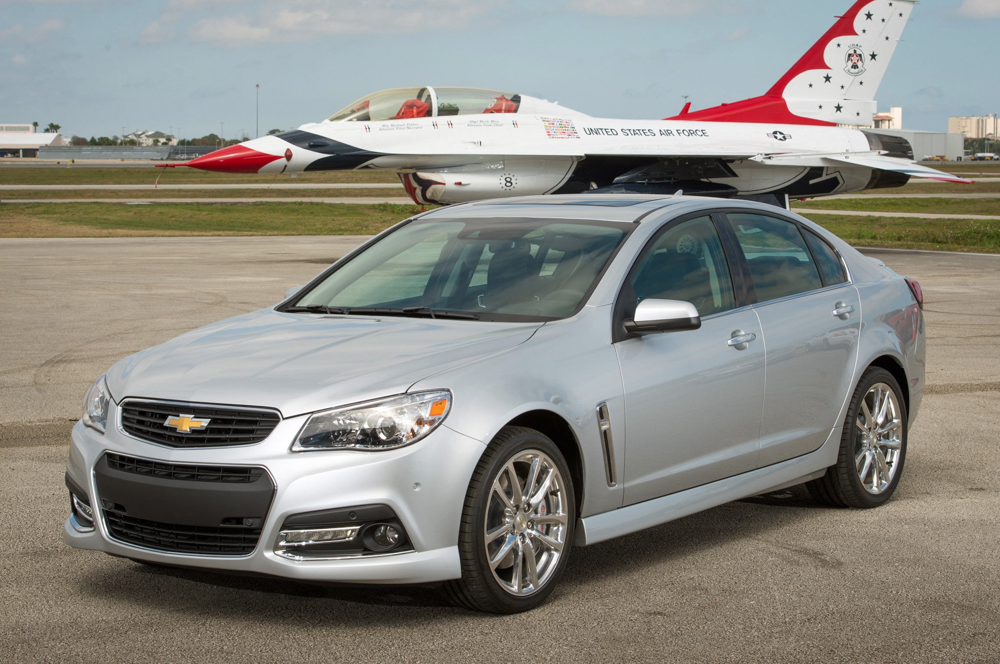 2014 Chevrolet SS Front Three Quarter With Plane1