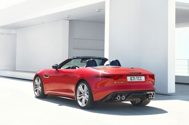 2014 Jaguar F Type Red Left Rear1 660x438