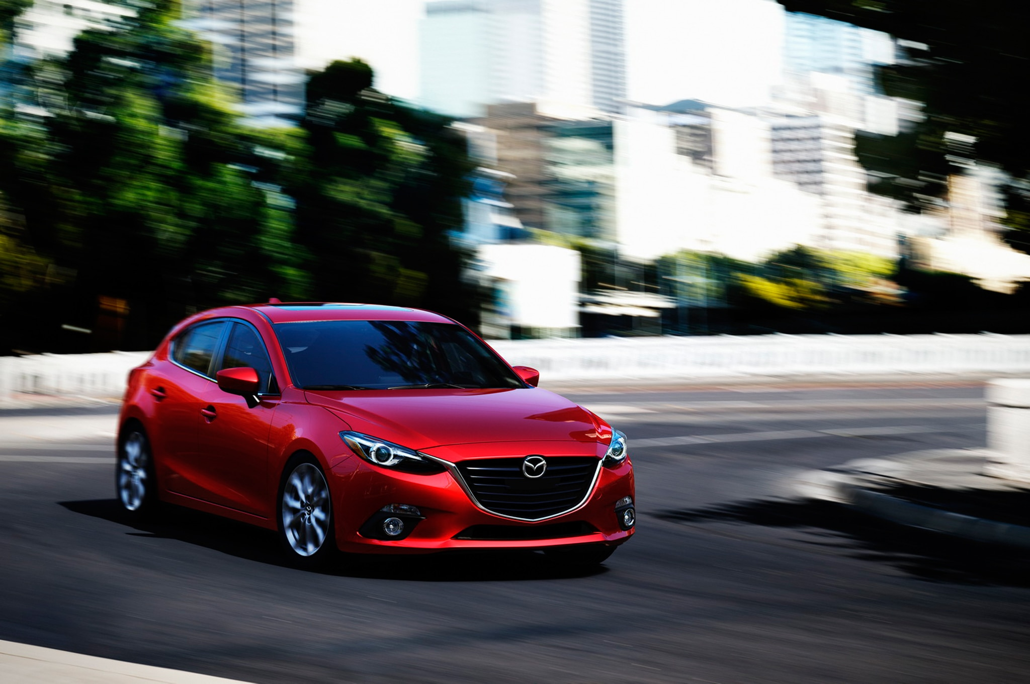 2014 Mazda3 Front End In Motion1
