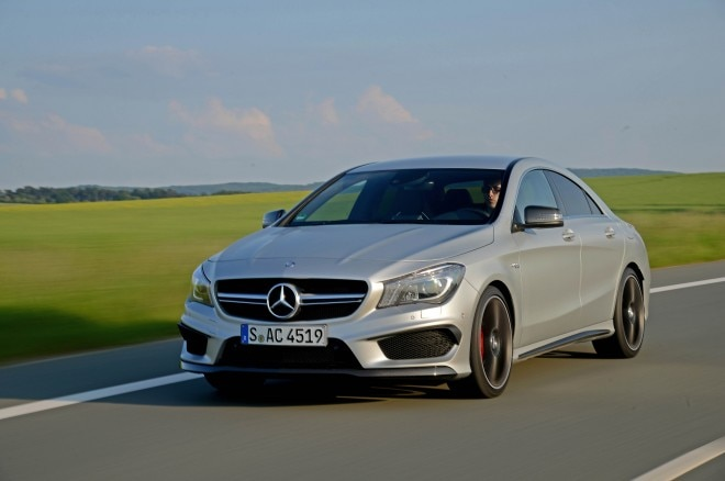 2014 Mercedes Benz CLA 45 AMG Front Three Quarters In Motion 031 660x438