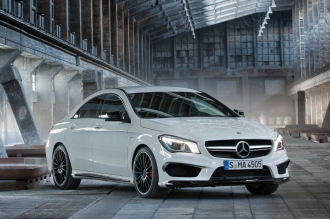 2014 Mercedes Benz CLA45 AMG Front Three Quarter Static1 660x438