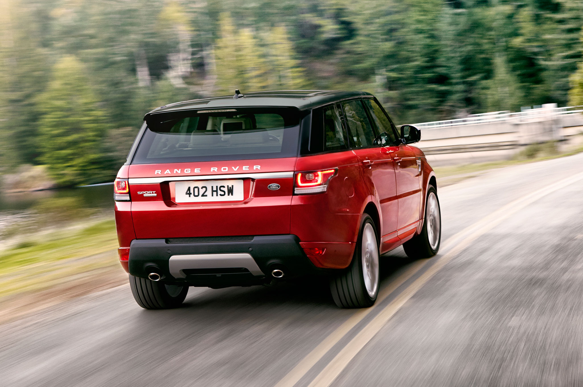 2014 Range Rover Sport Right Rear Driving1