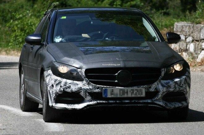 2015 Mercedes Benz C Class Spied Front Three Quarter 11 660x438