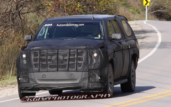 Cadillac Escalade Front End Spy Shot 21 660x413