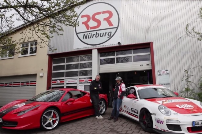 Ferrari 458 Italia And Porsche 911 GT3 RS Battle At Nurburgring Image 11 660x438