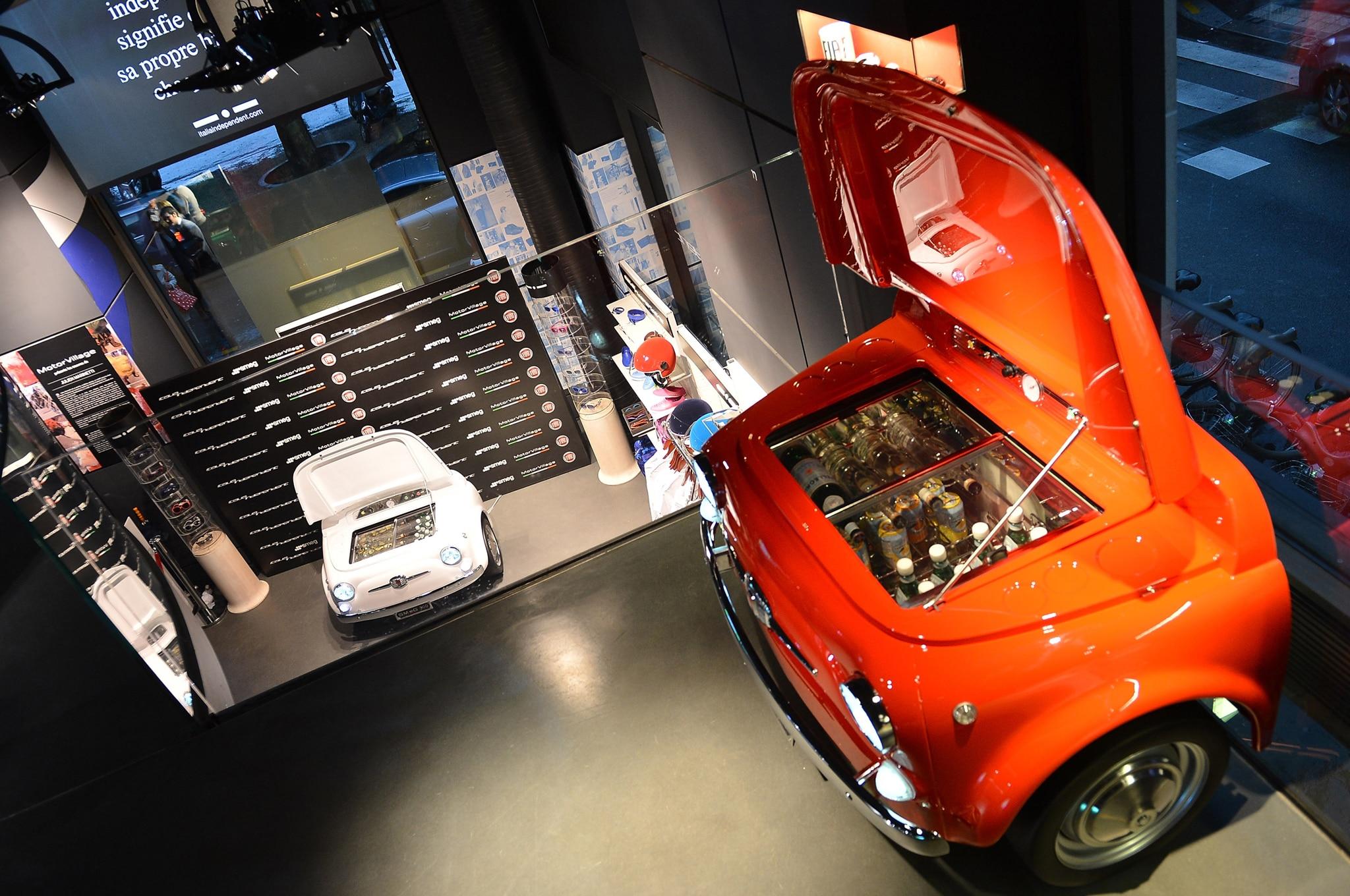 Fiat 500 Smeg Refrigerator Above1