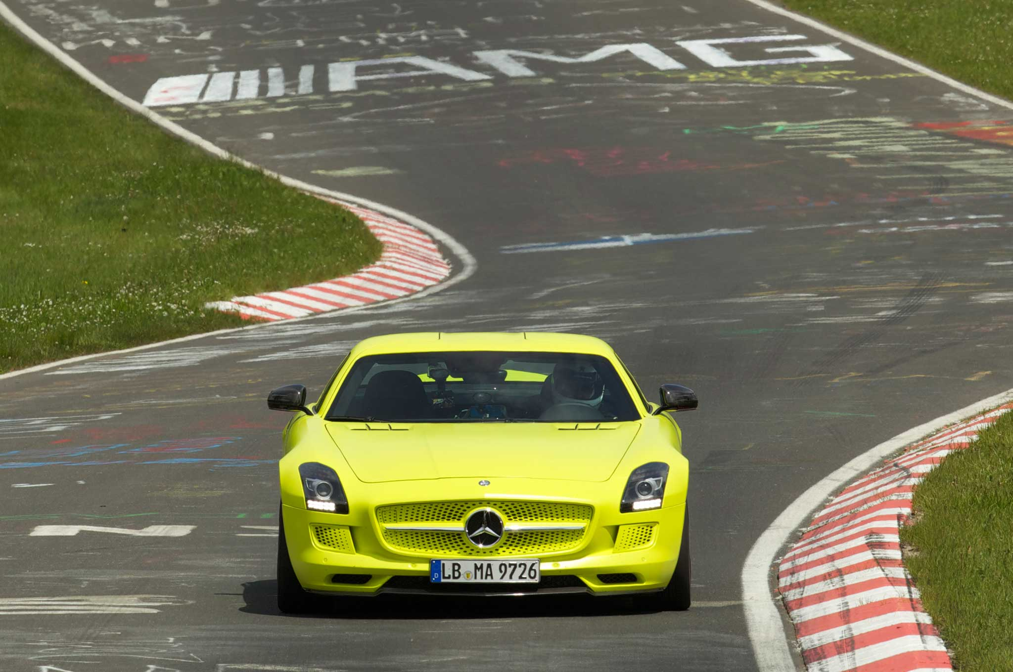 Mercedes Benz SLS AMG Electric Drive On Ring 11