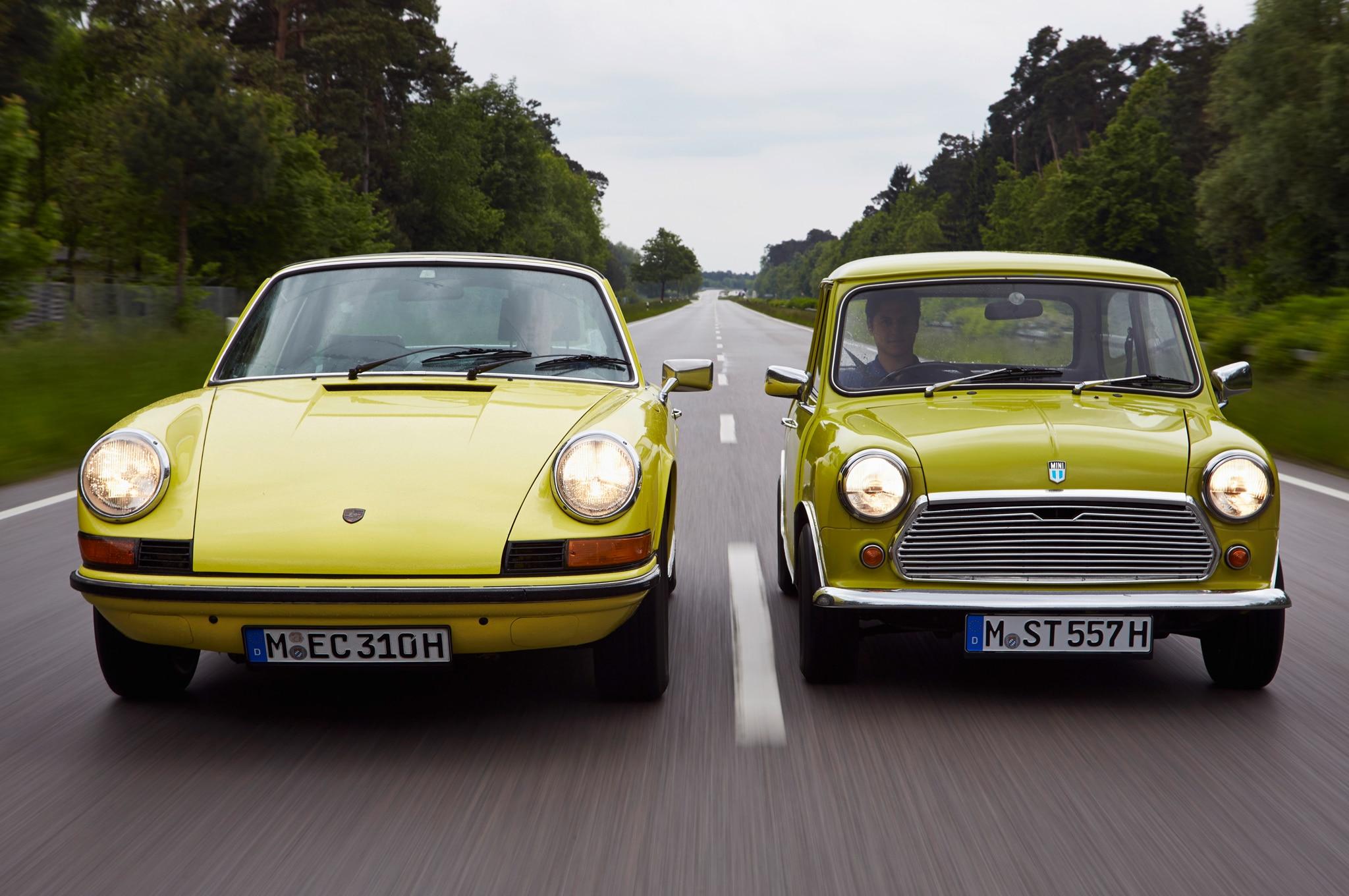 Morris Mini Minor And Porsche 911 Front Motion1