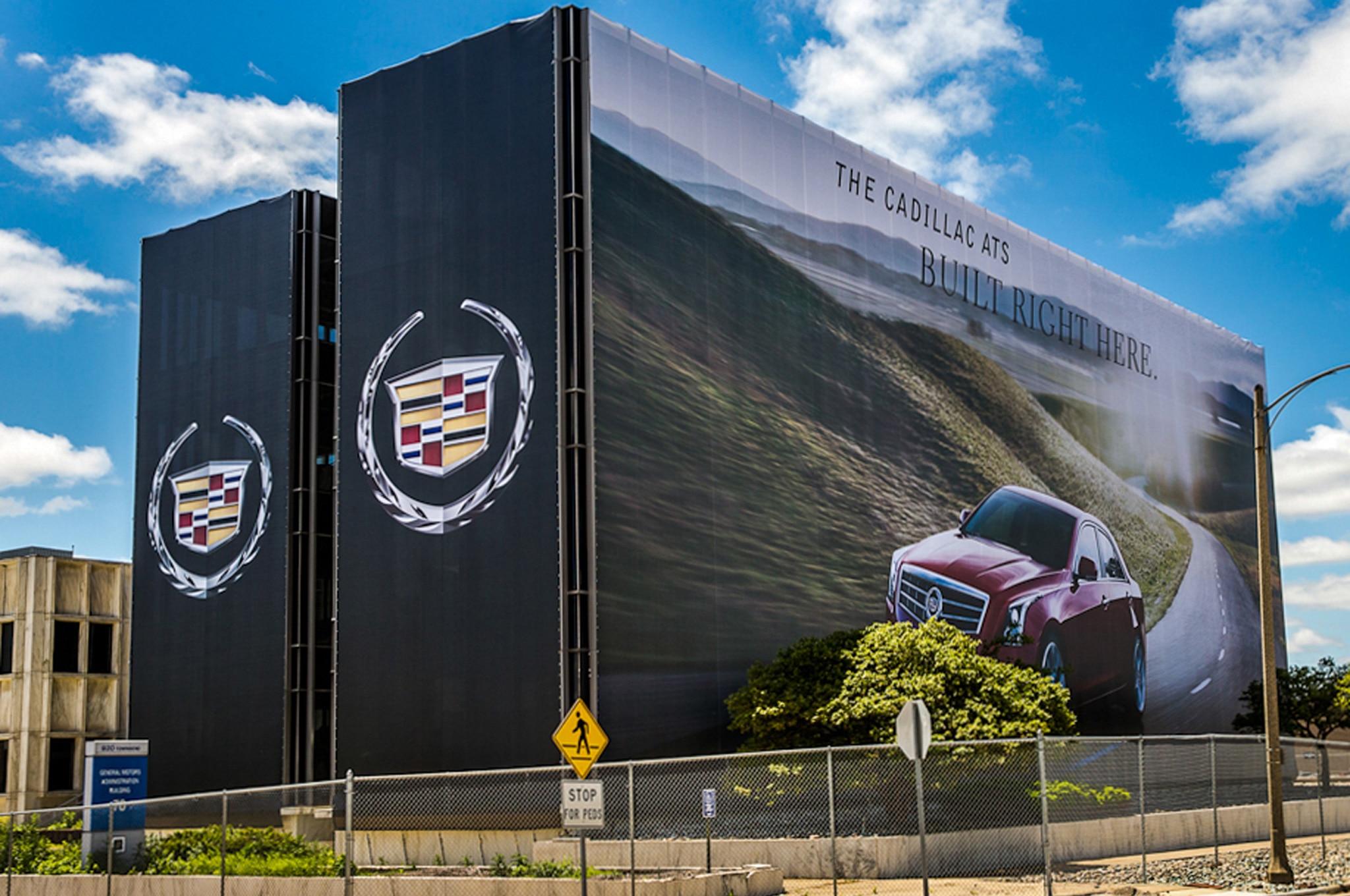Oldsmobile Building Cadillac ATS Billboard1