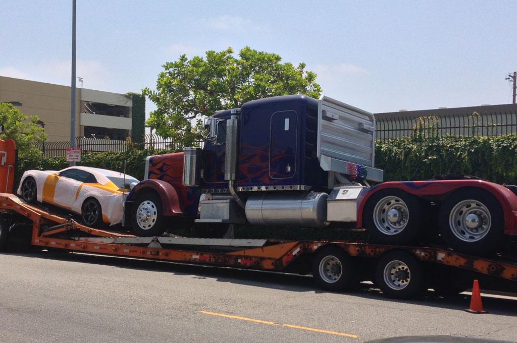 Transformers Bumblebee Camaro And Optimus Prime Spied
