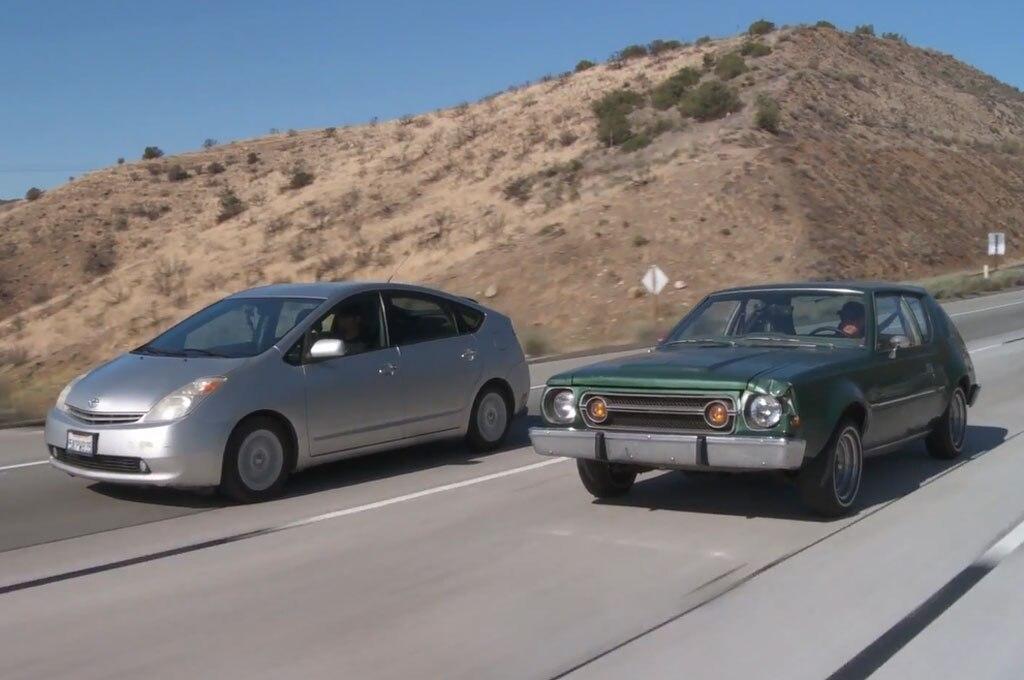 Toyota Prius AMC Gremlin Highway Driving Roadkill1