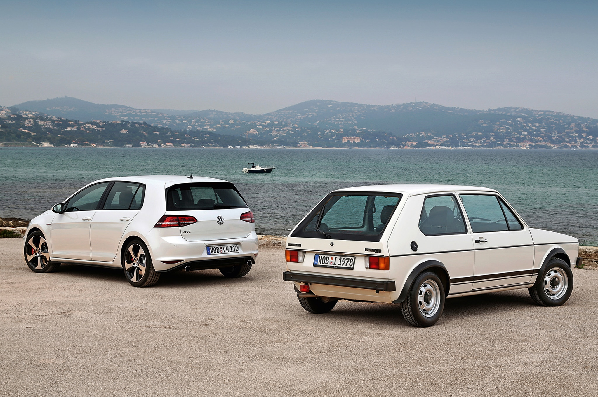 Volkswagen Golf MKI And MKVII Rear Shot1