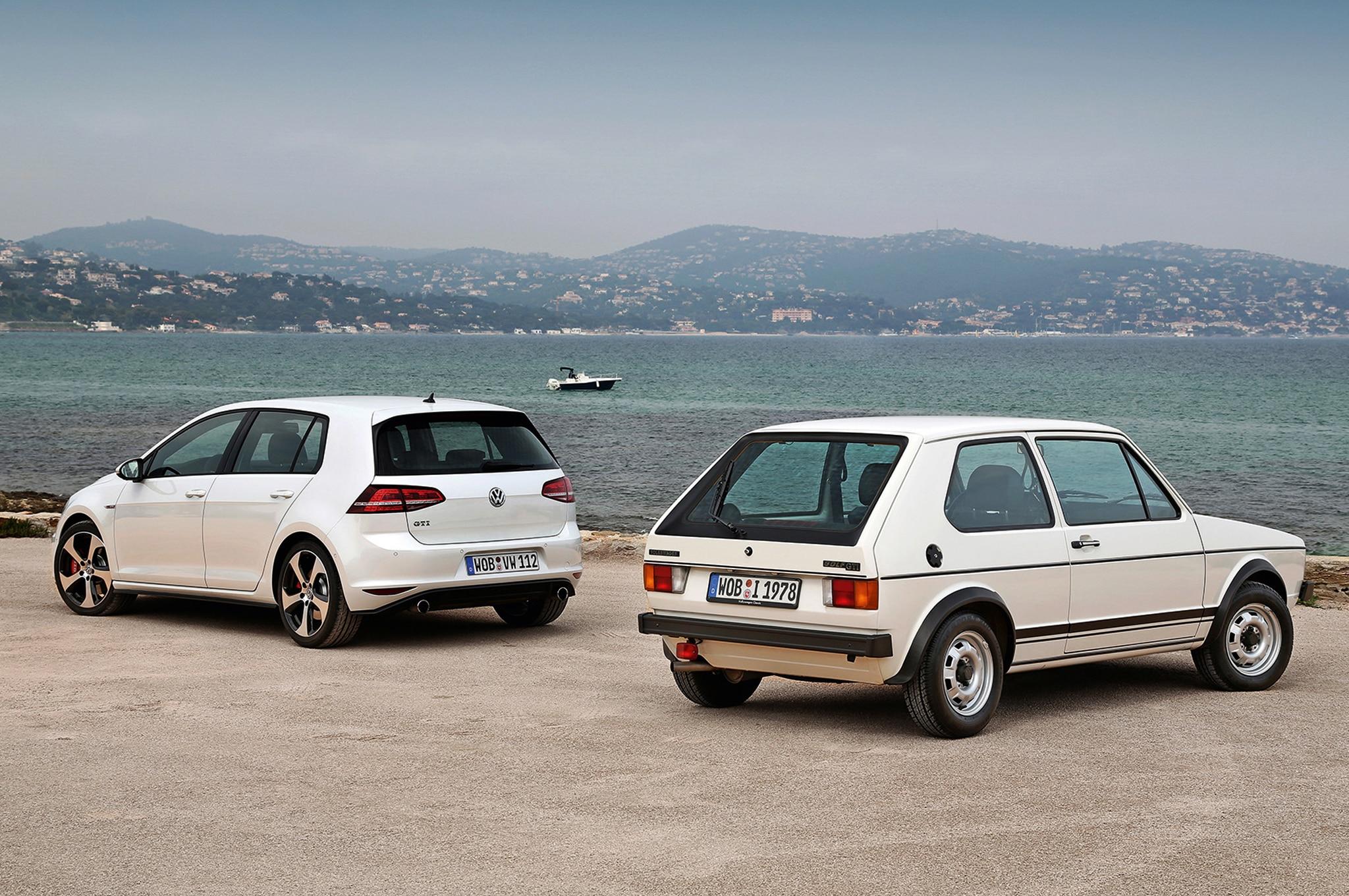 Volkswagen Golf MKI And MKVII Rear Shot1