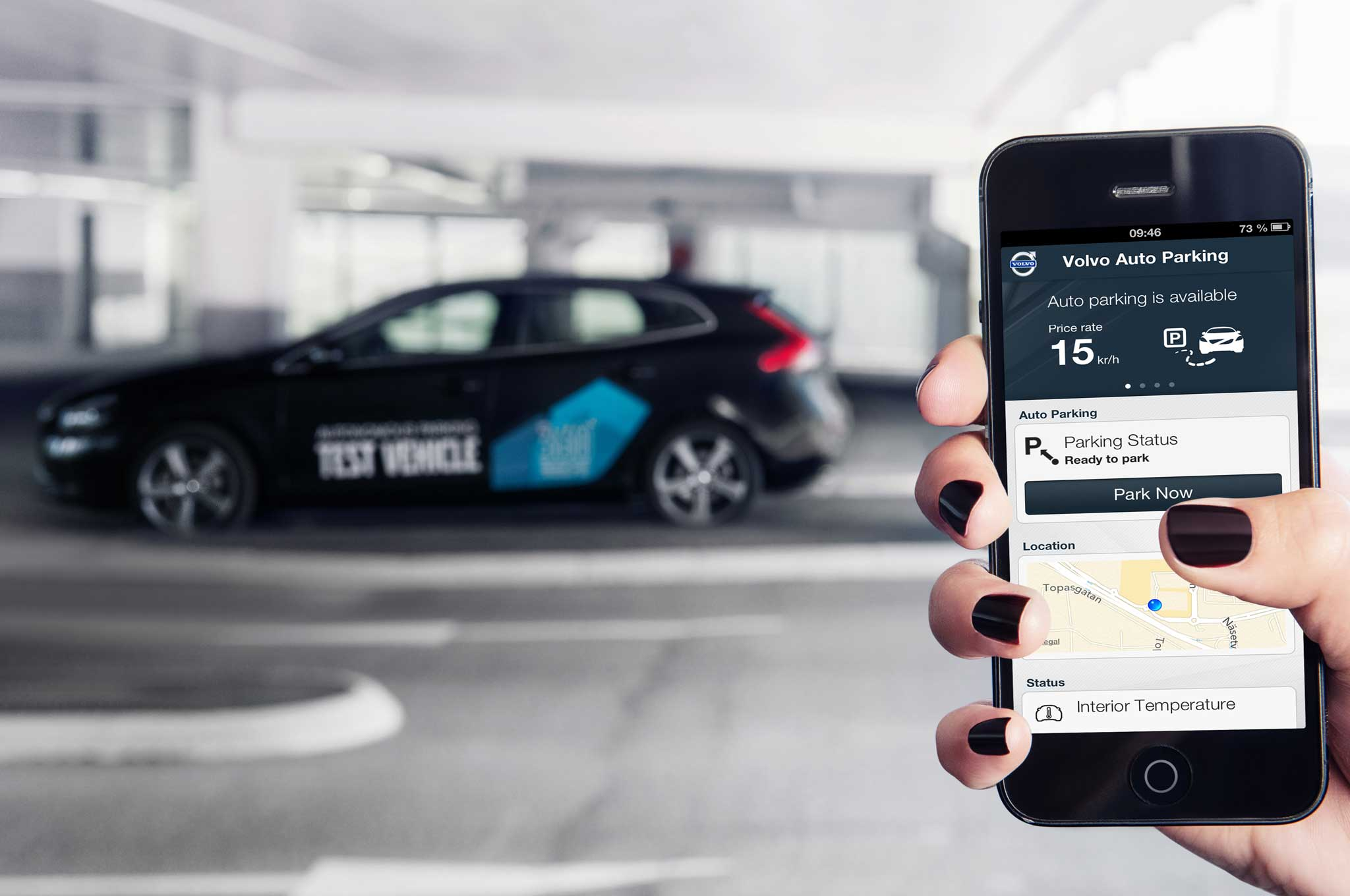 Volvo V40 Self Parking With Smartphone1