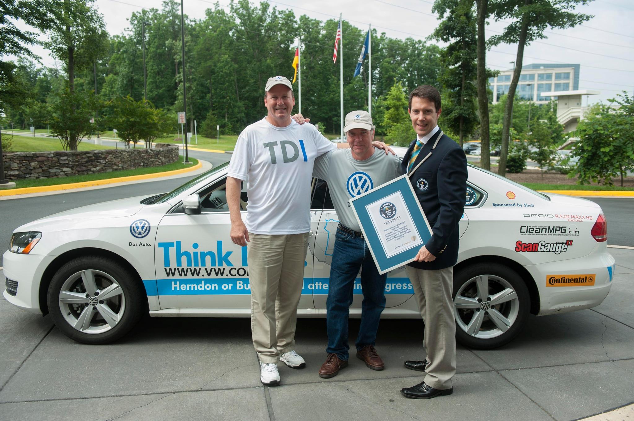 World Record Volkswagen Passat TDI And Gerdes1