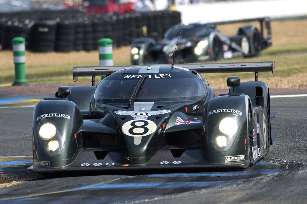 2003 Bentley Speed 8 Le Mans LMP1 Racer Front View Track1