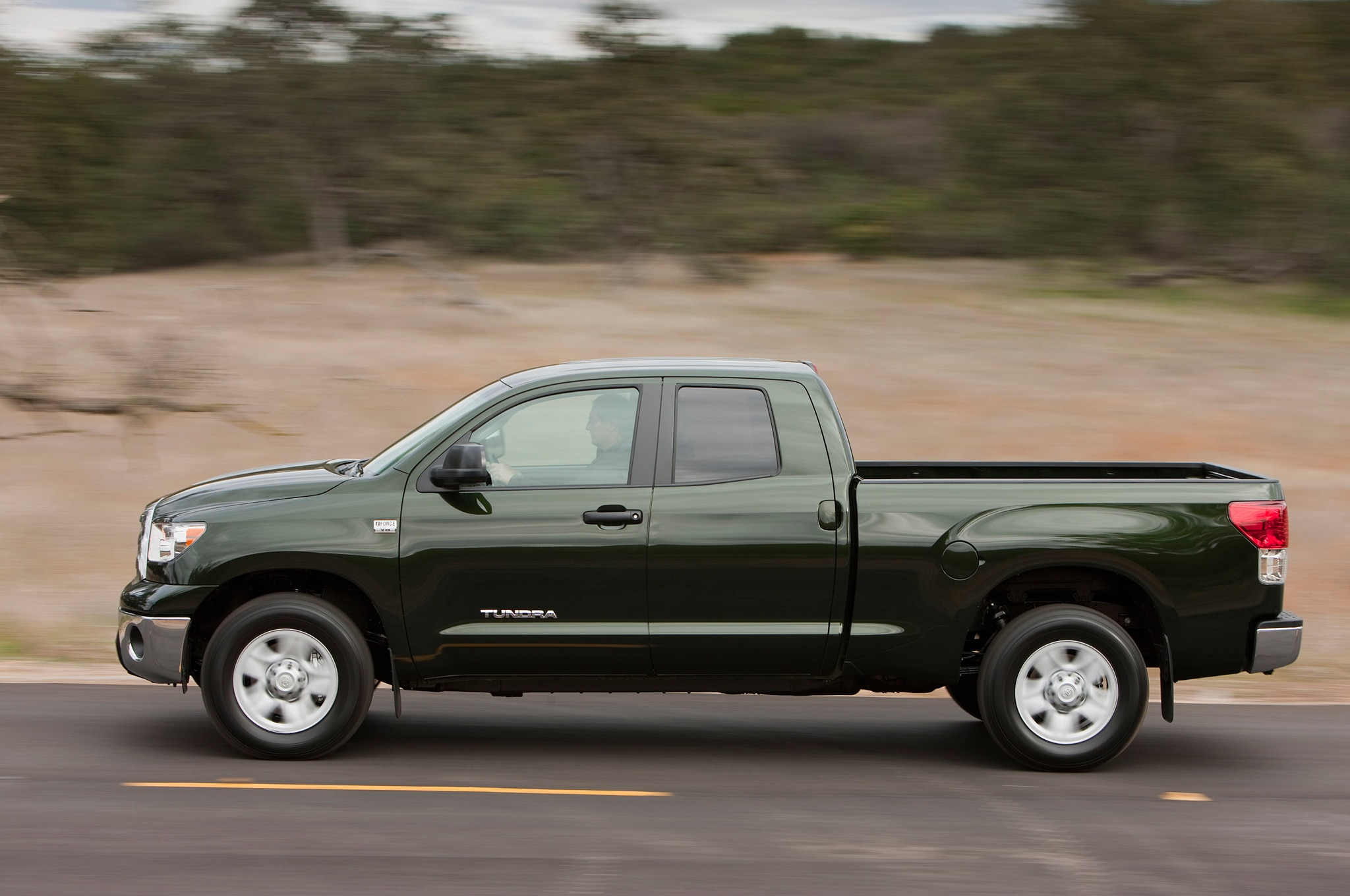 2013 Toyota Tundra Double Cab Side View In Motion
