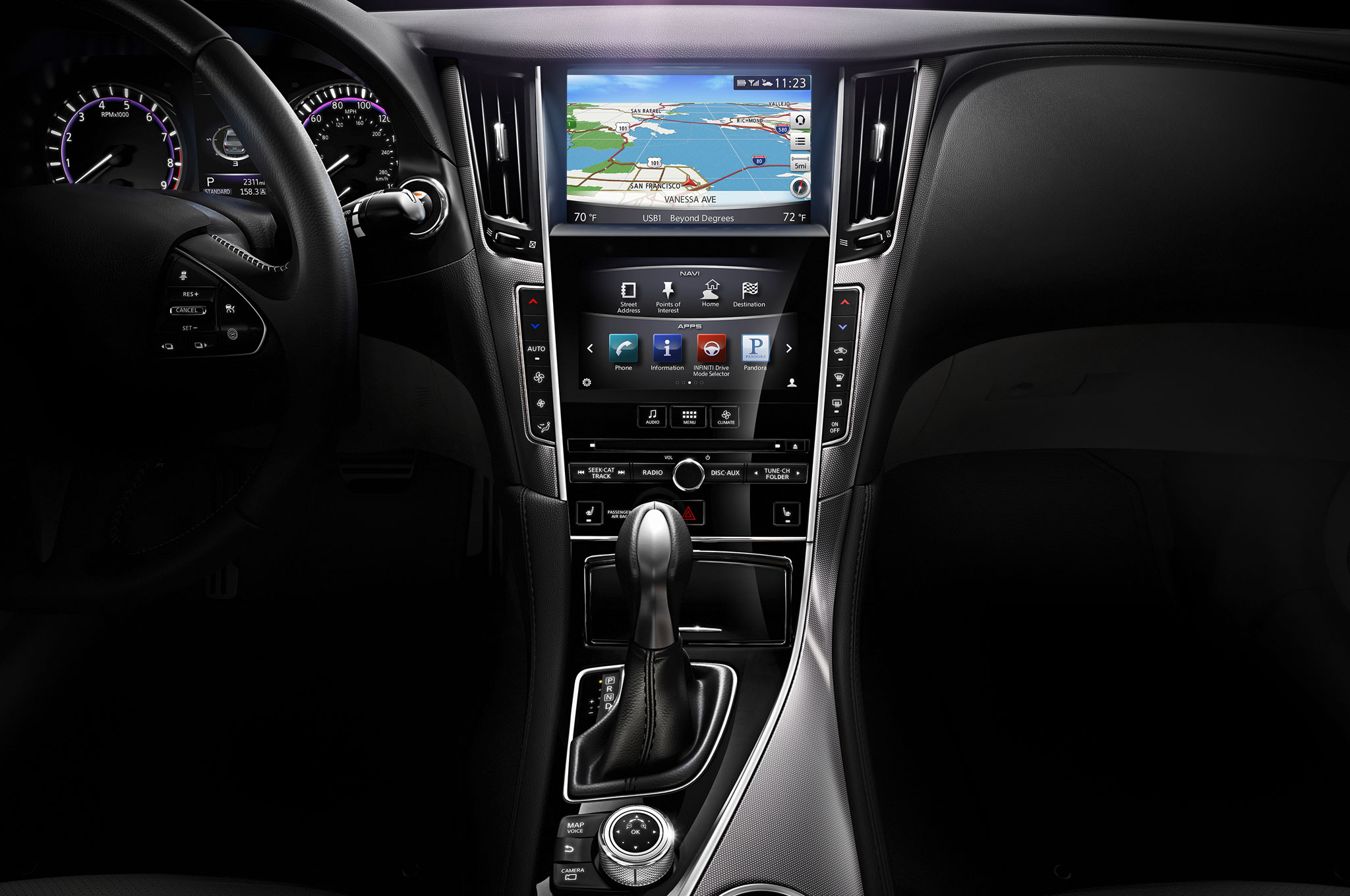 2014 infiniti q50 first drive automobile magazine. Black Bedroom Furniture Sets. Home Design Ideas