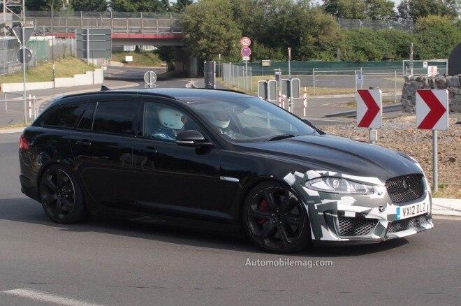 2014 Jaguar XFR S Sportbrake Front Three Quarters View1 660x438